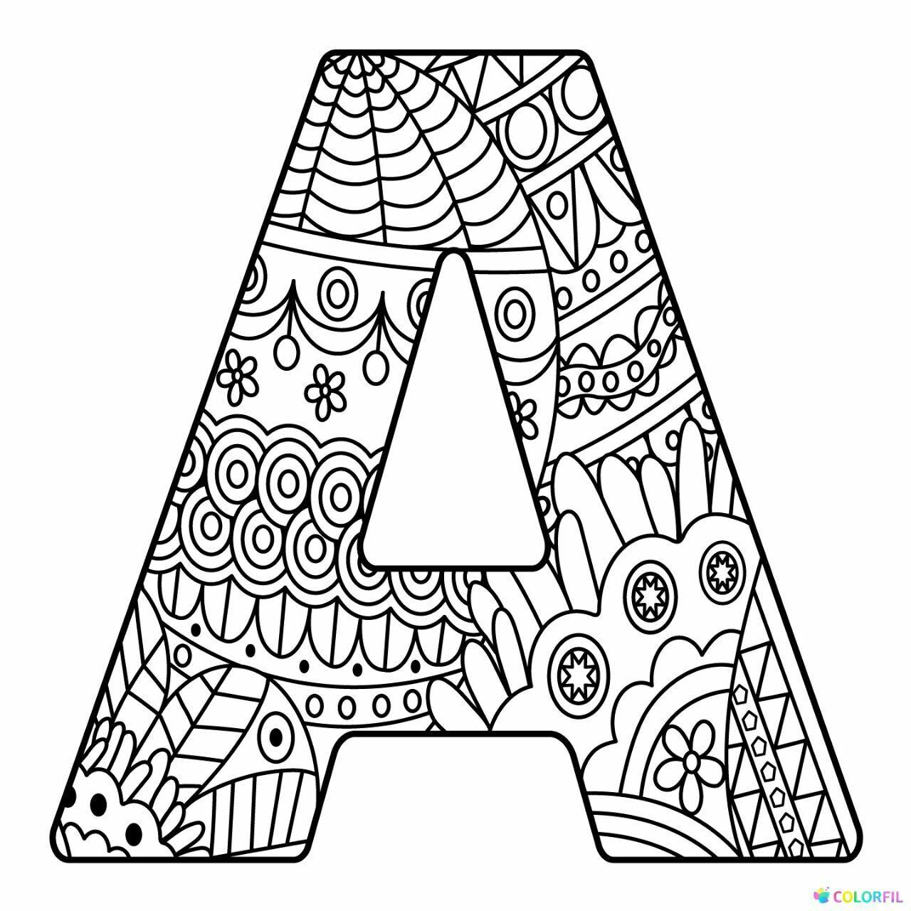 Letras decoradas | Mandalas para colorear, Páginas para ...