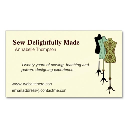 Sewing business card tailor business cards pinterest business sewing business card colourmoves
