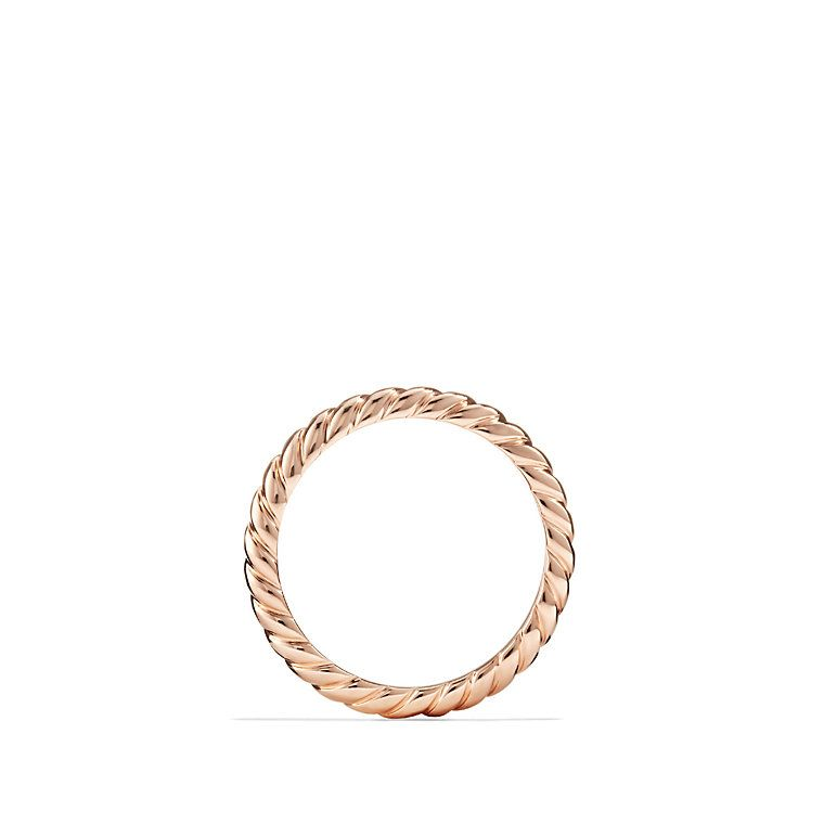 Cable Wedding Band in 18K Rose Gold