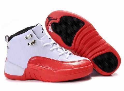 Kids Air Jordan 12 White Red [Kids Air Jordan 12 3] - $64.29 ...