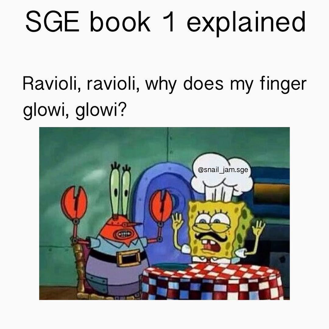 Schoolforgood schoolforevil schoolforgoodandevil questsforglory spongebob ravioli ravioliravioligivemetheformuoli meme mrkrabs cool