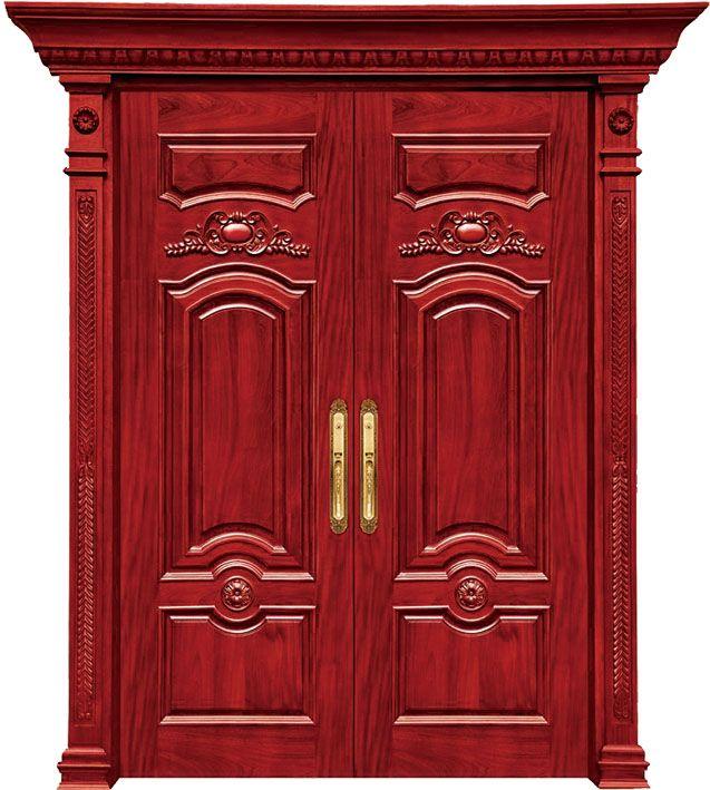 Puertas de madera para exteriores fotos de puertas talladas en madera ue de un par de puertas - Puertas de madera exteriores ...