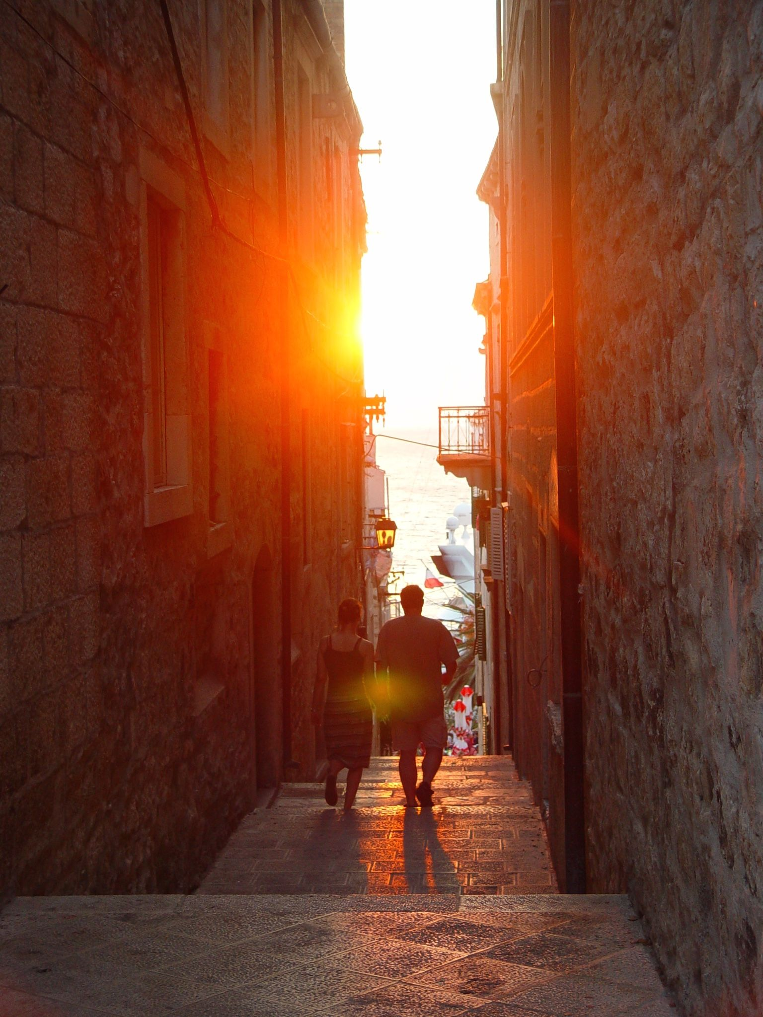 Sunset in the streets of Korcula, Croatia http://www.cityseacountry.com/croatias-top-islands-to-visit/