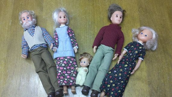 Sunshine Family  Vintage 1970's. Rare  Entire Family Mom and Dad, Baby and Grandparents on Etsy, $48.00