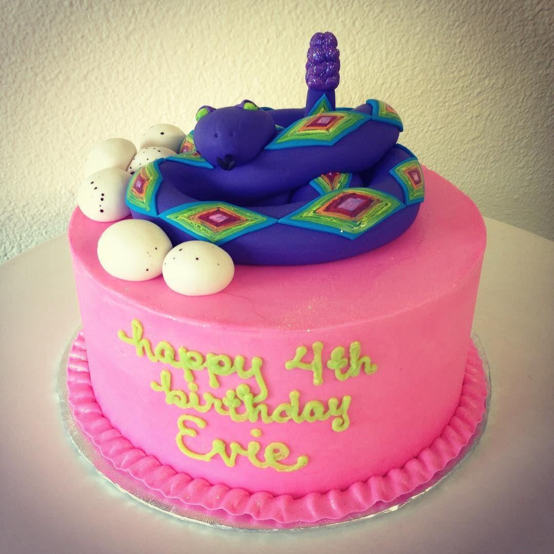 Rainbow Rattlesnake cake by Stuffed Cakes StuffedCakescom Custom