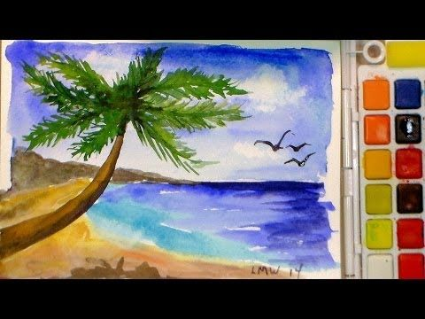 The Frugal Crafter Watercolor Tutorials On Youtube Tropical