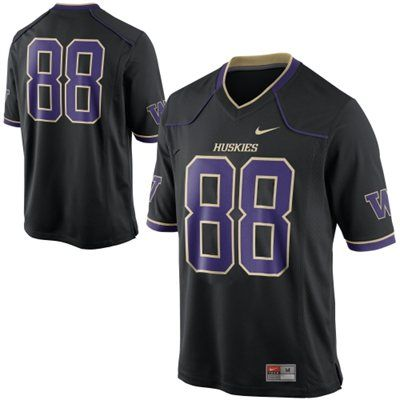 sports shoes 8e6f9 e9826 Nike Washington Huskies #88 Game Football Jersey - Black ...