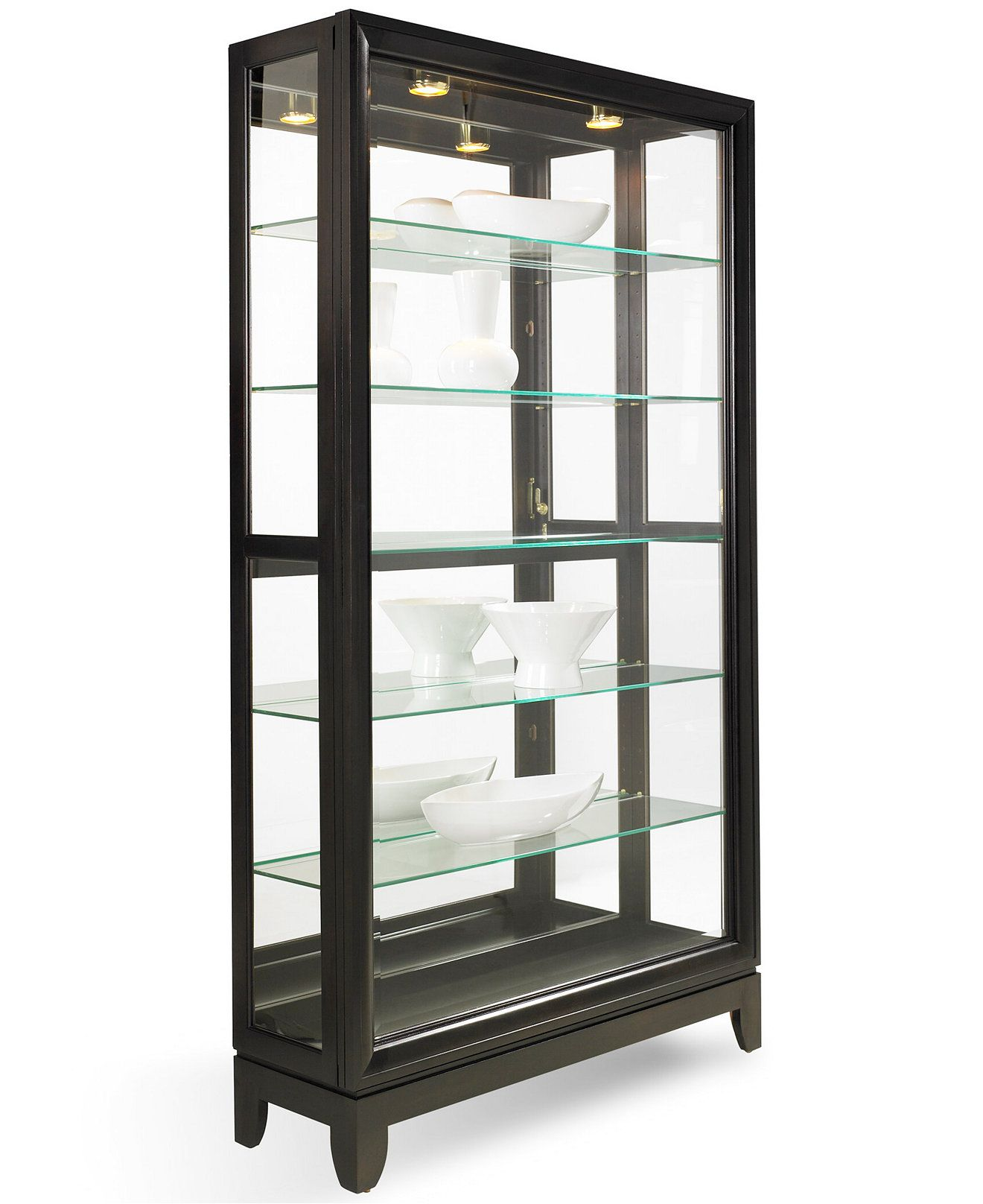 Contemporary Curio Cabinets Drake Dual-slide Contemporary Curio Cabinet | Home