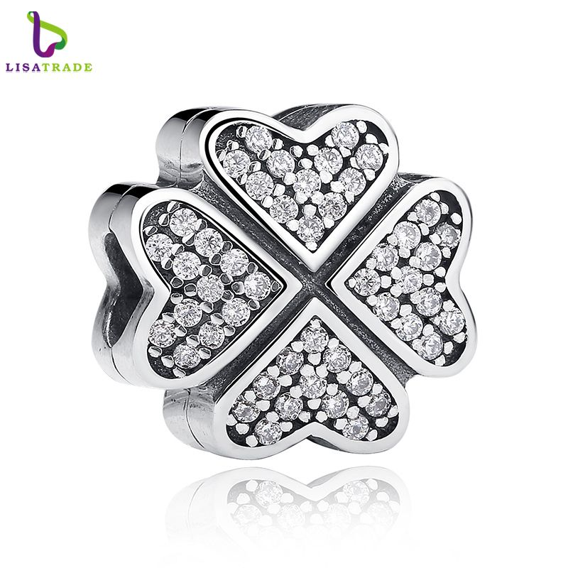 Blooming 925 Sterling Silver Pendant Bead Charm For Women Bracelet Necklace Gift