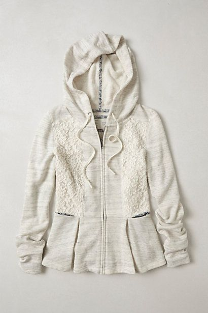 505e70417 I m obsessed with this look. Laced Peplum Hoodie  anthropologie ...