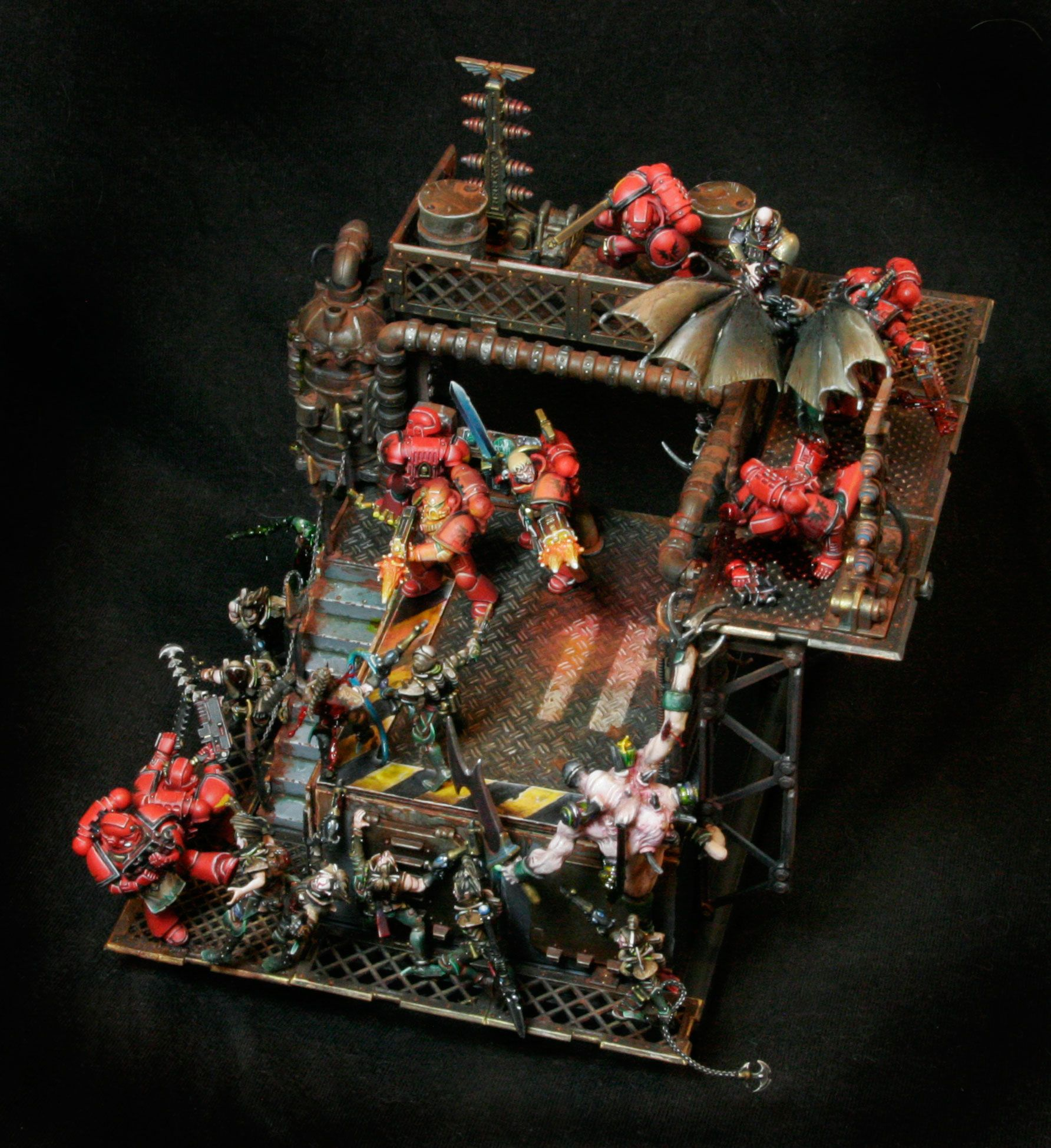 Warhammer 40k Blood Angels: Blood Angels Space Marines Vs Dark Eldar Diorama