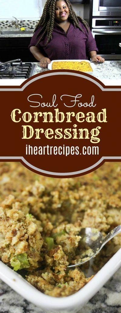 Southern Soul Food Cornbread Dressing | I Heart Recipes -   19 dressing recipes cornbread southern ideas