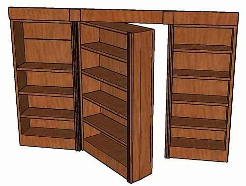 How To Build A Hidden Pivot Bookcase Door   Includes Easy To Follow  Illustrations And Instructions