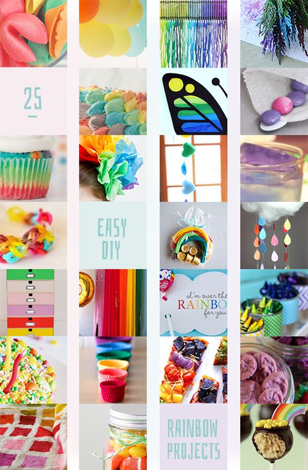 25 rainbow craft projects   DIY Projects   Rainbow crafts ...