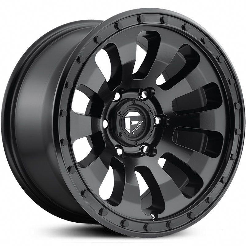 Fuel D630 Tactic Wheels Matte Black