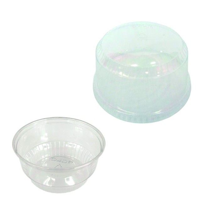 1 Cavity Plastic Cupcake Cup With Dome Lid 500 Pack Cupcake In A Cup Cavities Cupcake Container