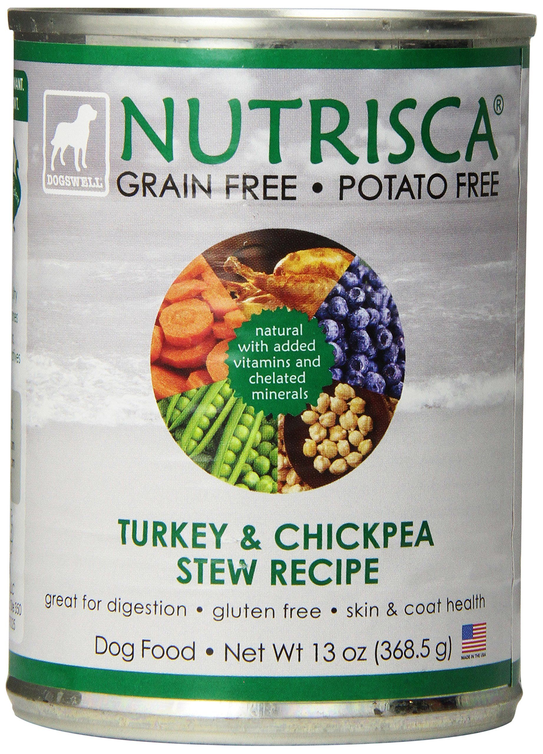 Dogswell 842552 12pack nutrisca turkey and chickpea can