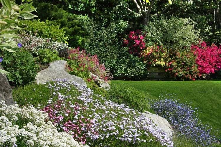 Mit Pflanzen Und Steinen Den Hang Gestalten | Garten | Pinterest