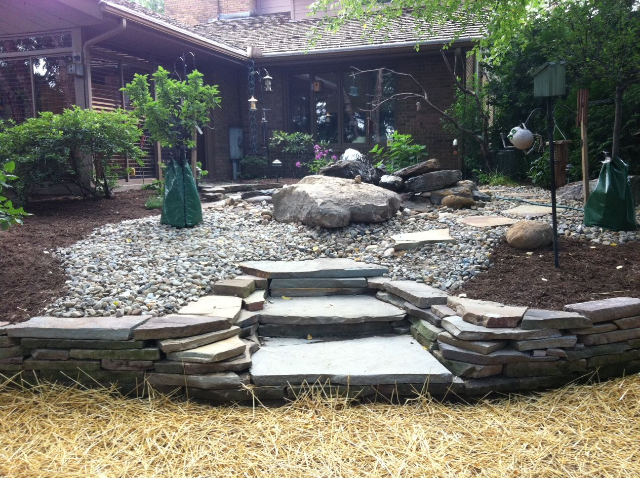 back yard rock garden top quality landscaping inc northeast ohio