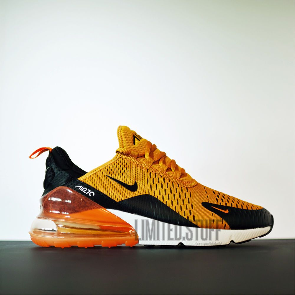 huge discount 3130f e7863 Details about Nike Air Max 270 AH8050-008 Black/Total Orange ...