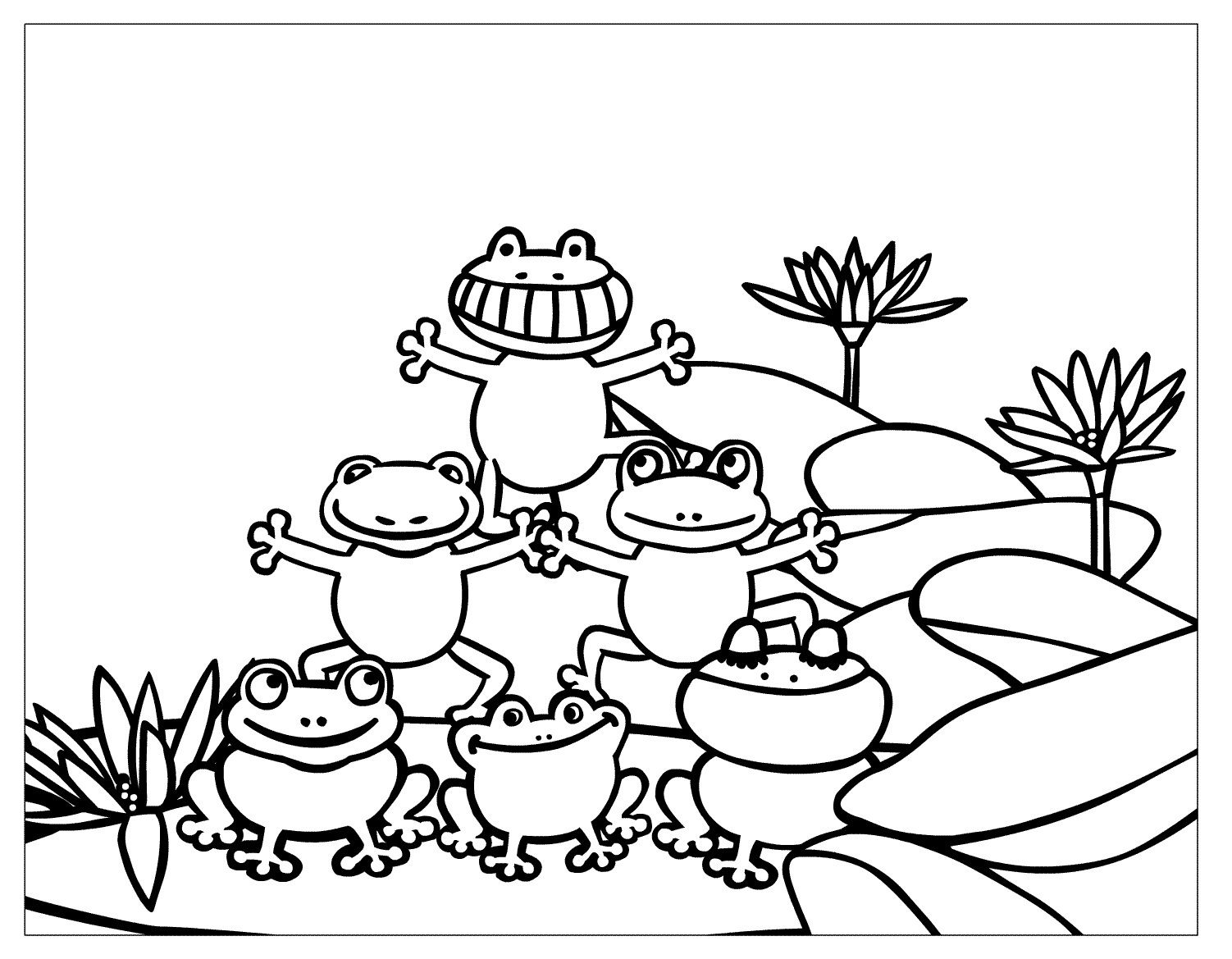 open water lily coloring page - Google Search | Digi\'s, characters ...