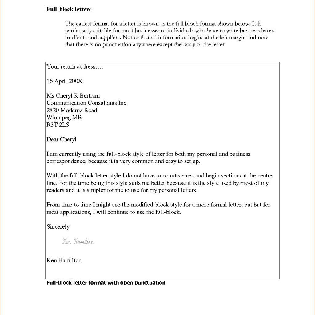 Business letter block format template etamemibawa business letter block format template block letter style format spiritdancerdesigns Image collections