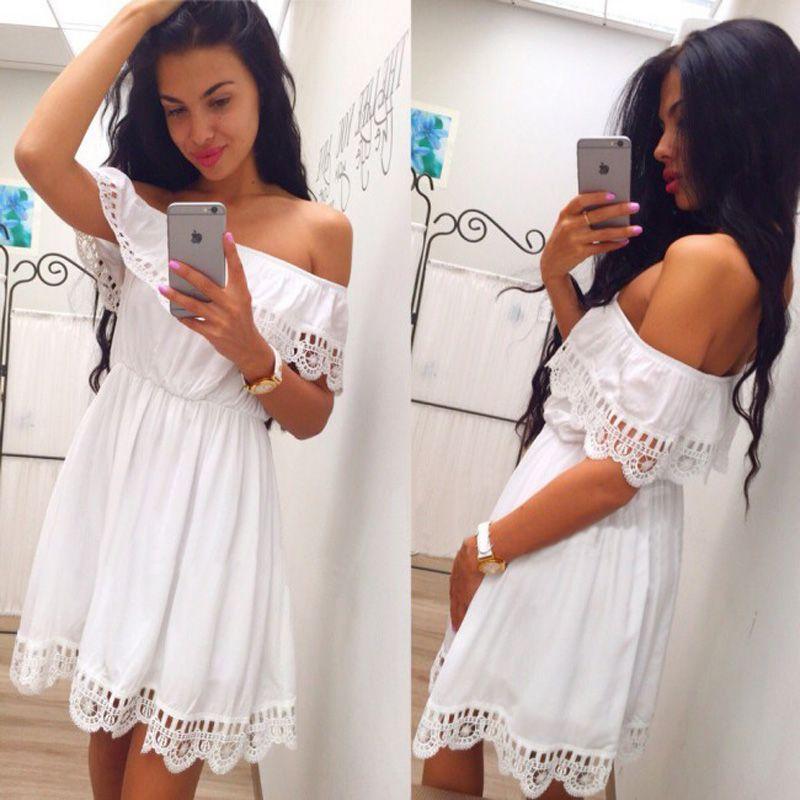 8a9246494 Precioso Vestido Blanco con Flecos para la Playa Moda Verano 2018 Casual.  Disponible en todas las Tallas. Por solo 9