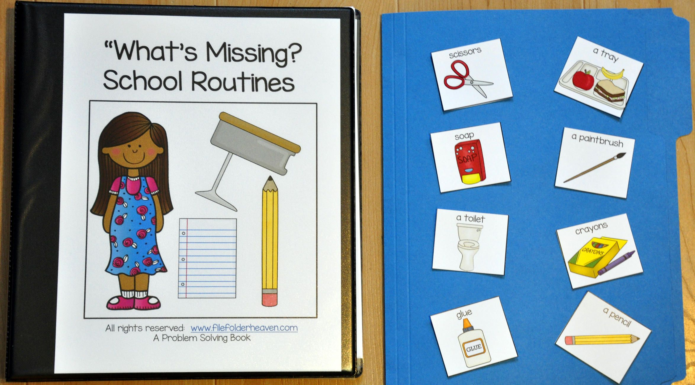 This Adapted Book What S Missing School Routines Edition Focuses On Problem Solving Skills