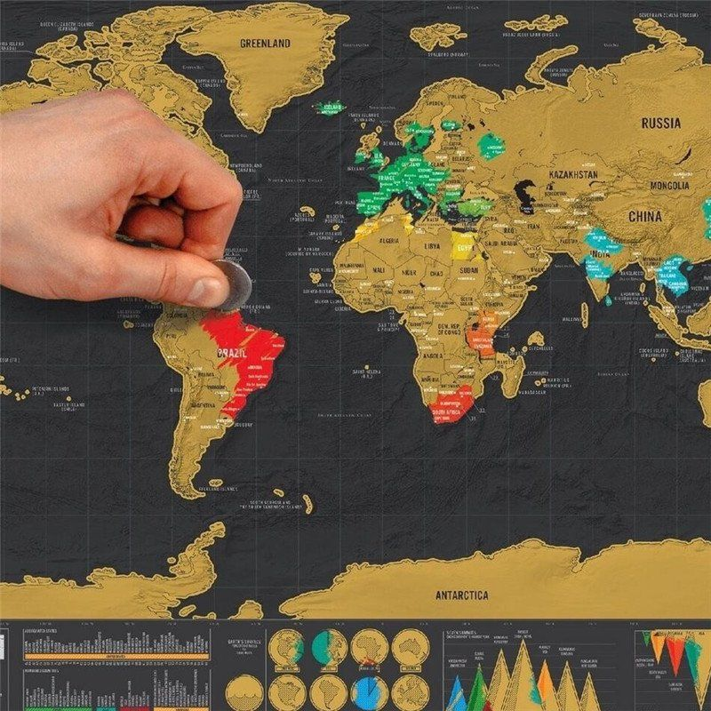 ScratchOff World Map Poster FREE SHIPPING WORLDWIDE - Scratch off us states maps for class with pencil