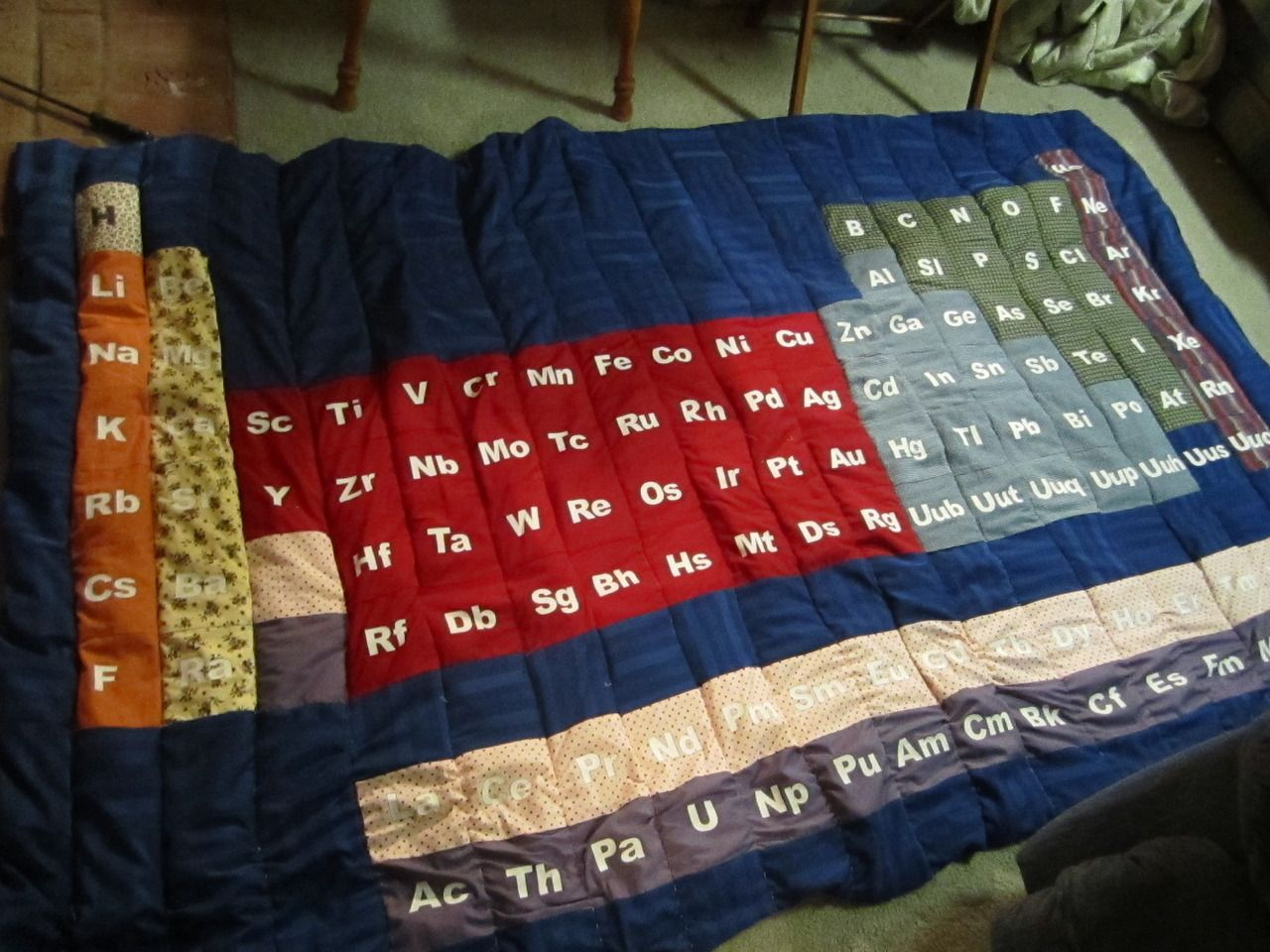 Periodic table quilt awesome edredones pinterest craft periodic table quilt awesome urtaz Gallery