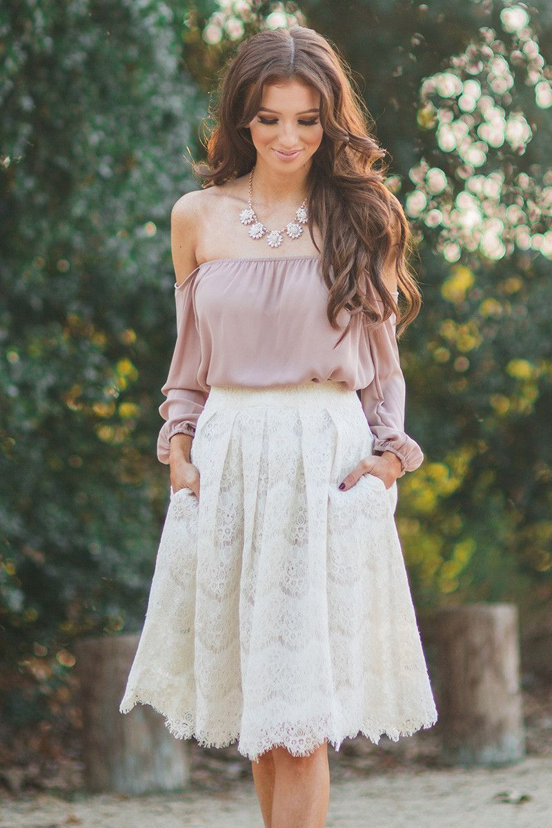 3c8b83a0a Midi lace skirt, skirts with pockets, A Line Skirts, white skirts,  photoshoot outfit ideas, Morning Lavender