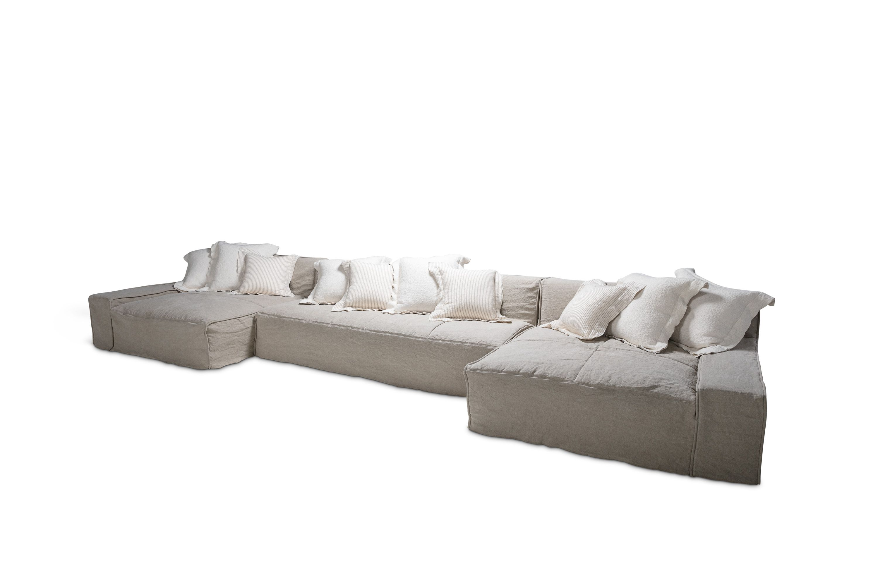 Esme Sectional in Bare Linen by Verellen