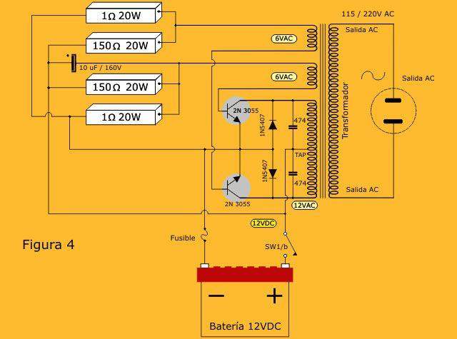 Circuito Tanque : Inversor de voltaje dc ac w parte circuito