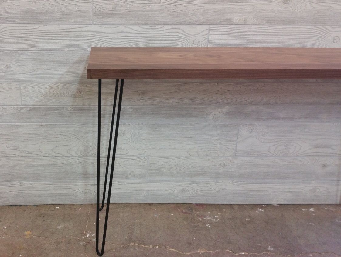 modern console tables. Modern, Console Table, Walnut, Media Console, Hallway With Hairpin Legs Modern Tables