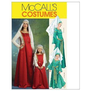 McCall's Patterns M5499 Misses'/Children's/ Girls' Medieval Costumes
