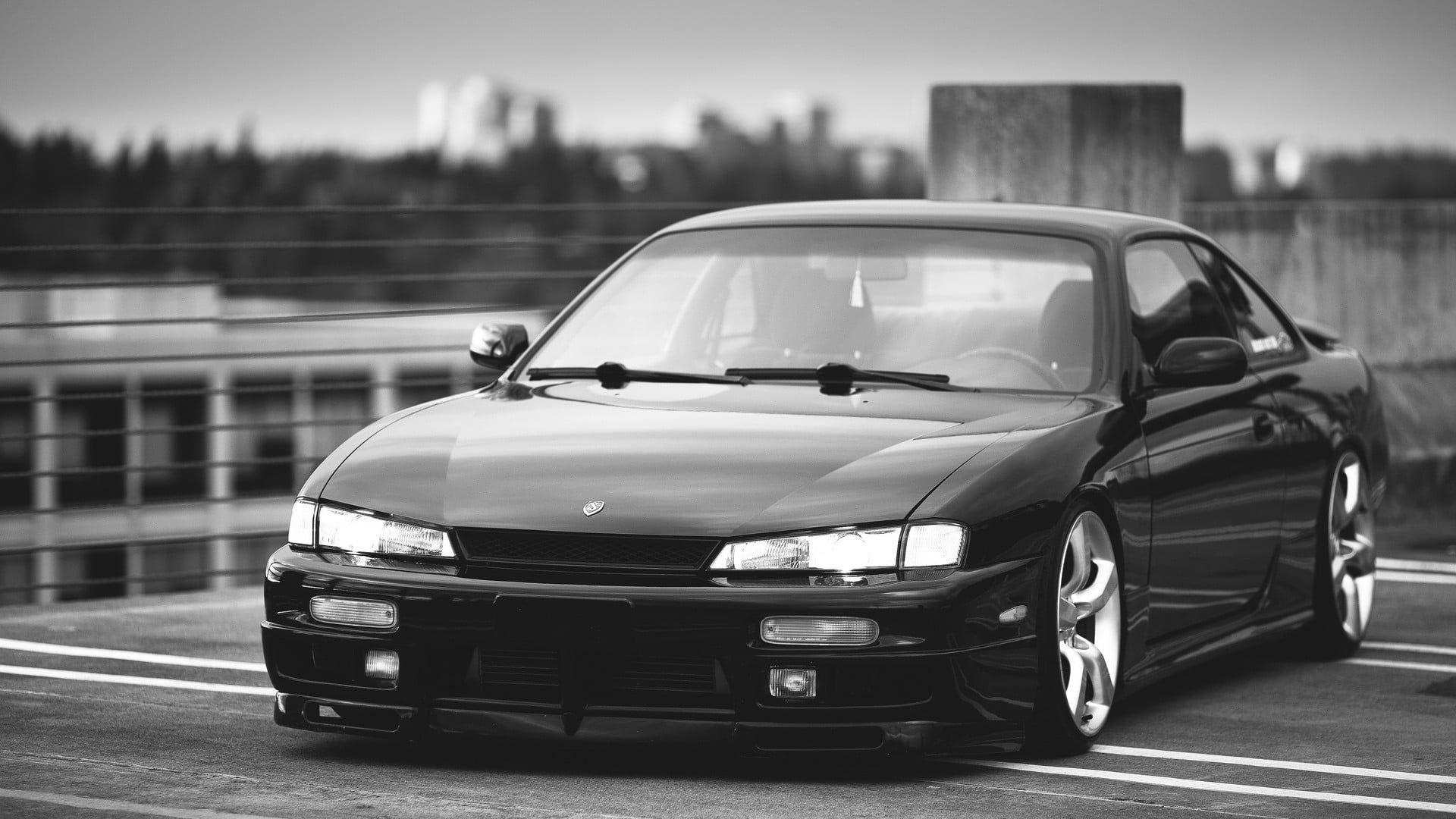 Black Honda Cr V Suv Nissan Silvia S14 Kouki Car Jdm Tuning 1080p Wallpaper Hdwallpaper Desktop Jdm Wallpaper Nissan Silvia Black Honda