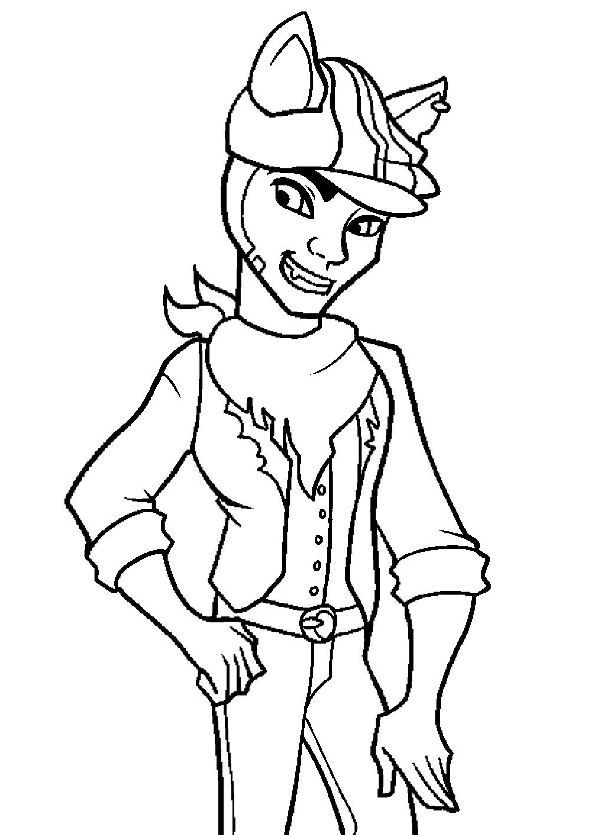 coloring page Monster High - Clawd Wolf | monster high party ideas ...