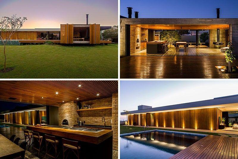 MF + Arquitetos haben dieses Haus in Franca in Brasilien entworfen ...