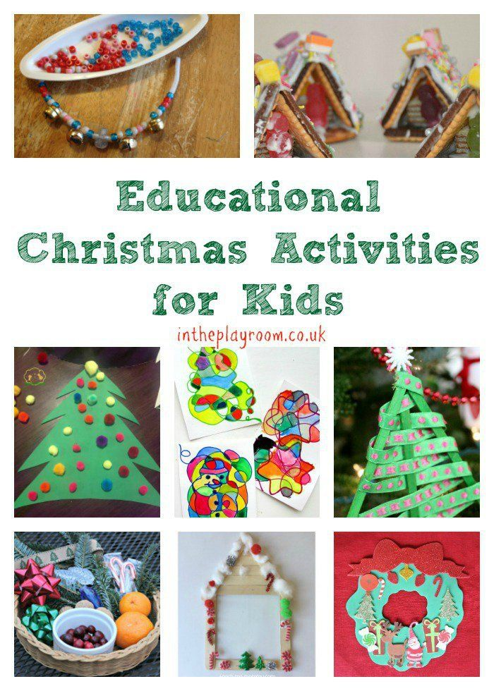 Educational Christmas Activities For Kids In The Playroom Christmas Activities For Kids Christmas Activities Winter Activities For Kids