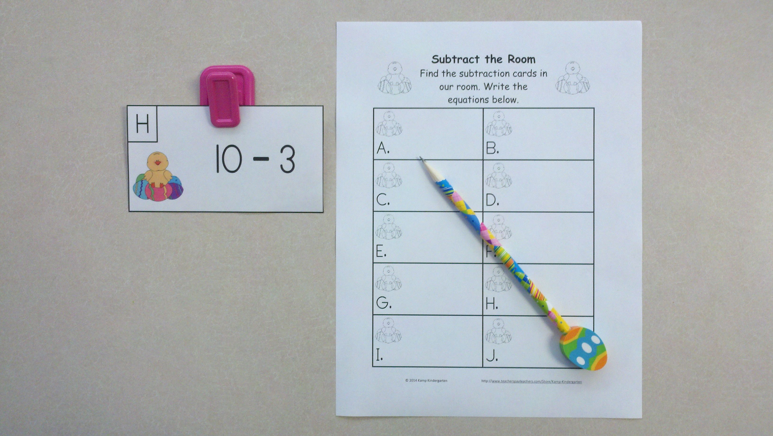 Easter Egg Fun Subtract The Room Minuends Of 6 To 10