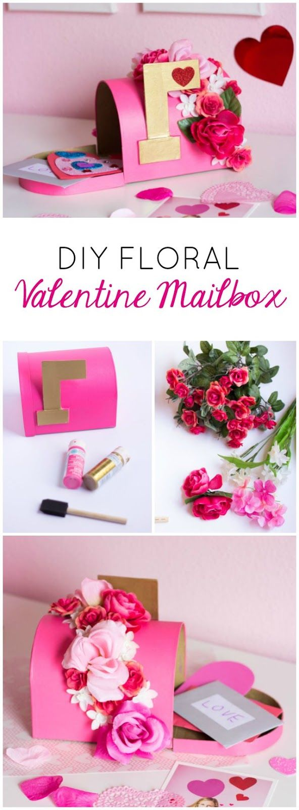 diy floral valentine mailbox diy pinterest valentinstag valentinstag geschenk f r ihn und. Black Bedroom Furniture Sets. Home Design Ideas
