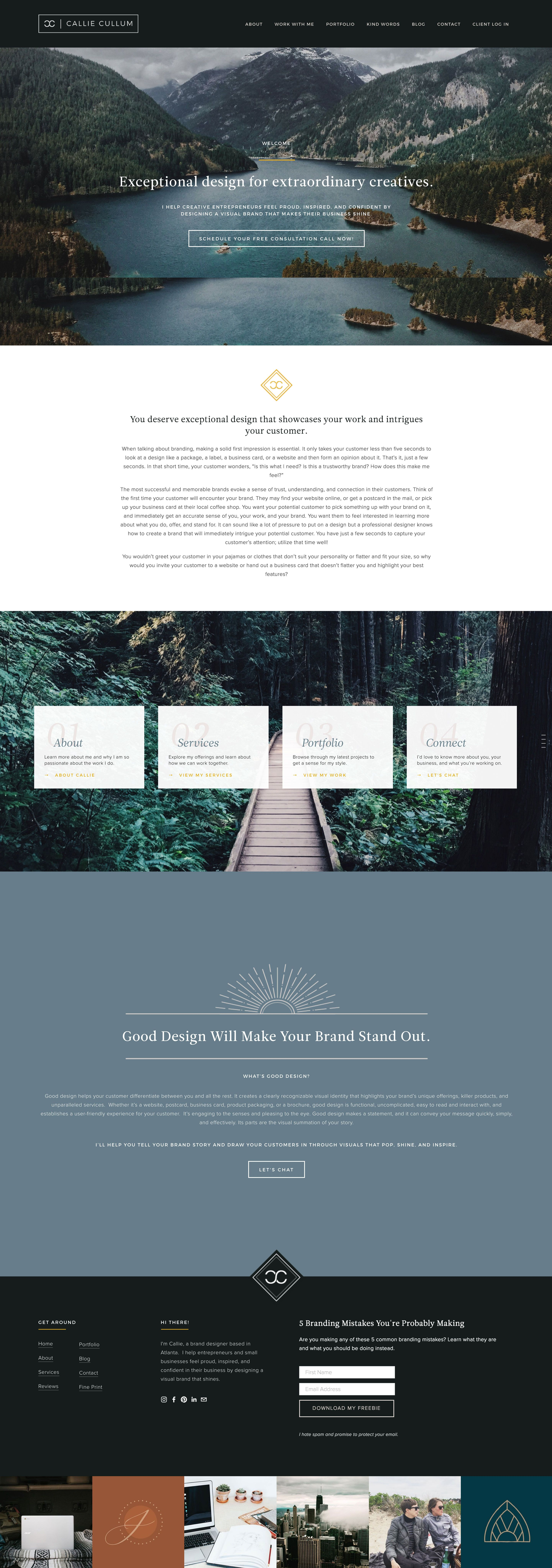 Modern Clean And Moody Website Design Graphic Web Designer Callie Cullum Small Business Branding Design And Business Website Design Web Design Design