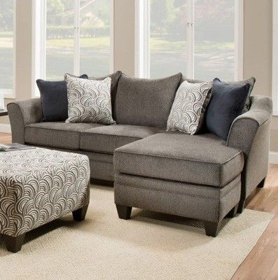 Awesome Simmons Upholstery Albany Sofa Chaise In Pewter 6485 Ibusinesslaw Wood Chair Design Ideas Ibusinesslaworg