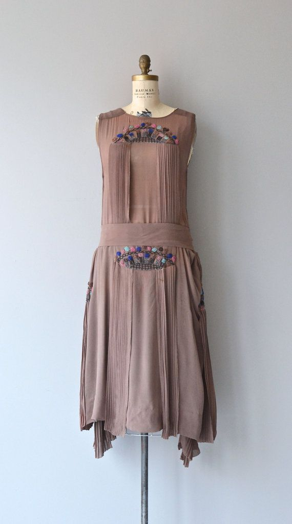 La Monnaie dress   vintage 1920s dress   silk beaded 20s dress ...