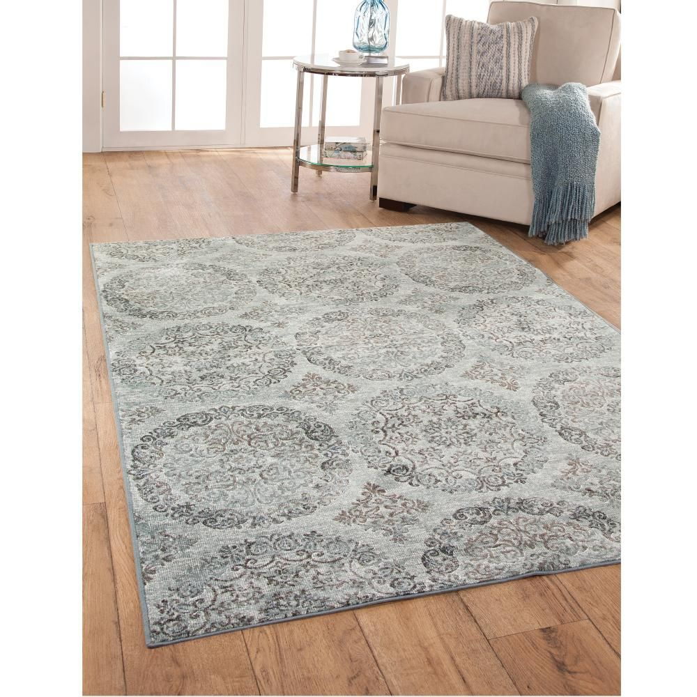 Sonoma Ana Grey Blue 7 ft. 10 in. x 11 ft. 2 in. Area Rug