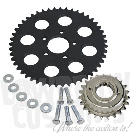 Belt to Chain Conversion for 883 Sportsters - Black Sprocket - 1994 - 2003c