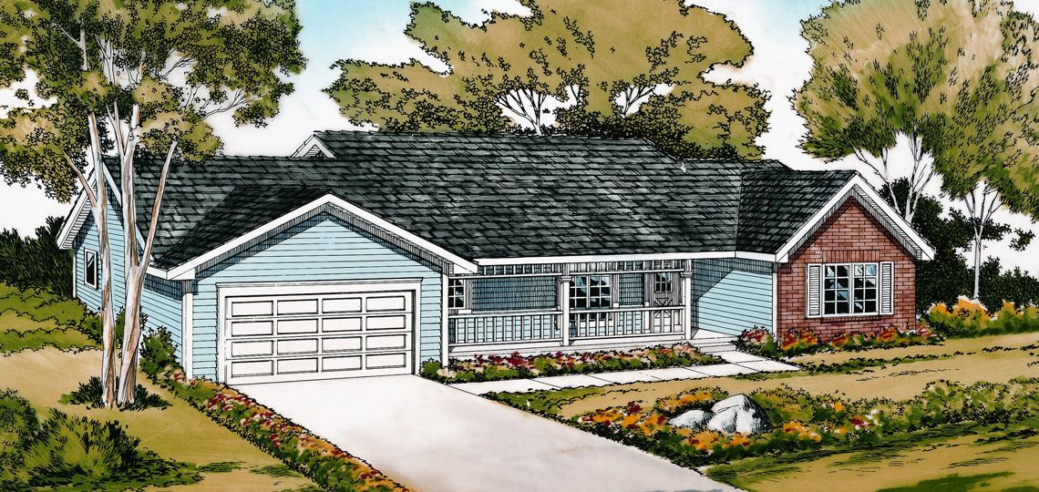 Charming 3 Bedroom House Plan: Cottagewood | 84 Lumber. The Difference In This House  Lies In The Layout Of The Bedrooms.