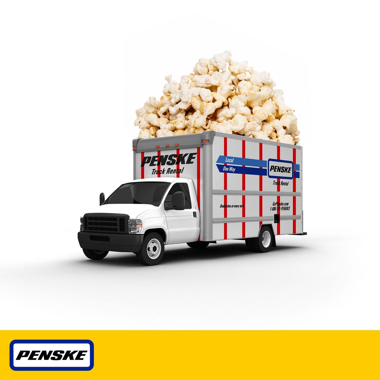 Nothing Beats Popcorn When You Watch Your Favorite Halloween Movie Penske Halloween2013 Trucks Trucking Moving Halloweentrucks Popc Toy Car Trucks Fun