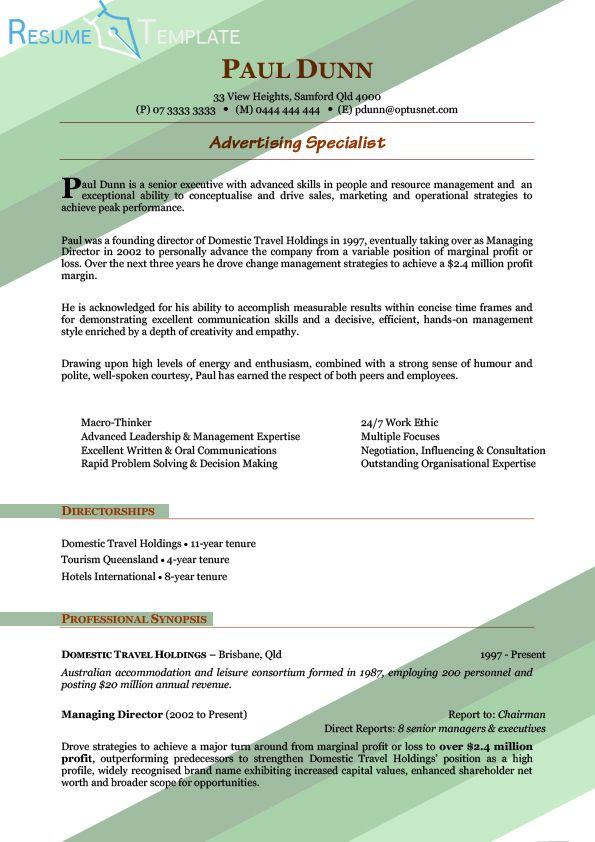 This image presents the best advertising resume template Do you - advertising resume templates