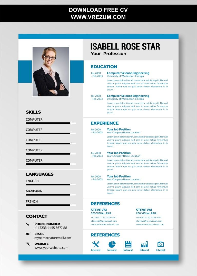 (EDITABLE) FREE CV Templates For Digital Marketing in